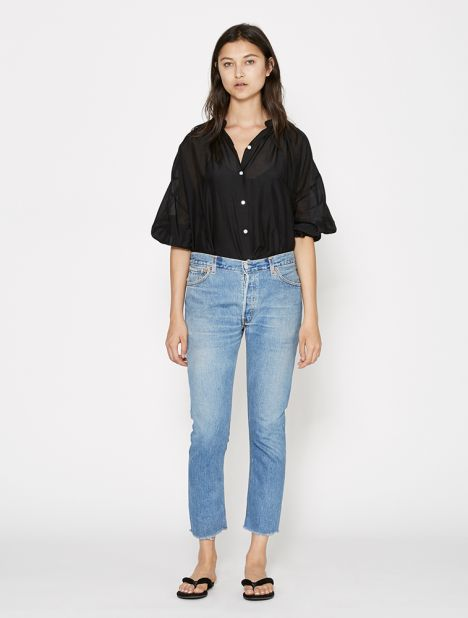 X Levis Relaxed Crop Jean - Blue