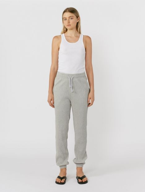 Organic Cotton Rib Sweatpant - Grey
