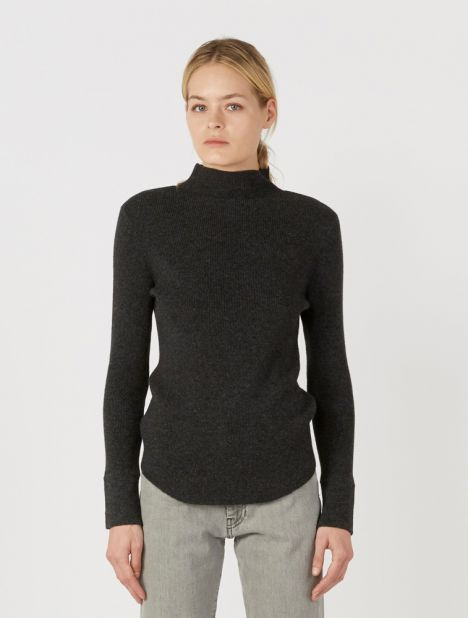 Raised Neck Layering Knit
