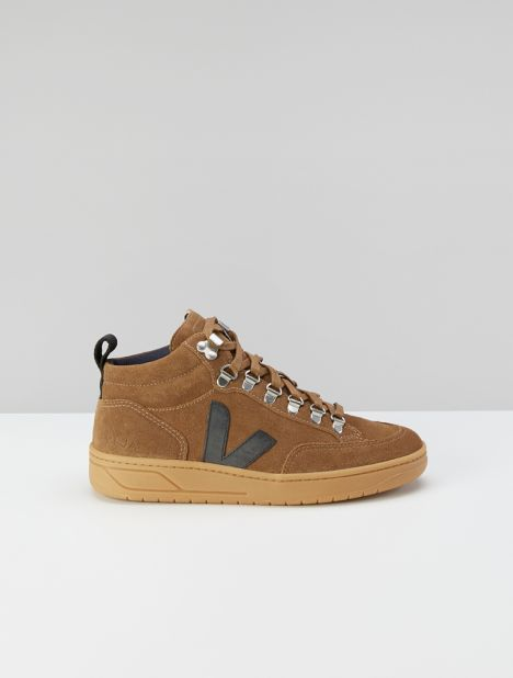 Roraima Suede Hi-Top Sneaker - Brown / Black