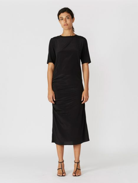 Ruched Skim T-Shirt Dress