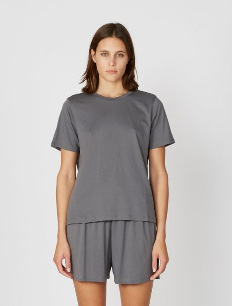Sabine Pima Cotton Tee - Iron Grey