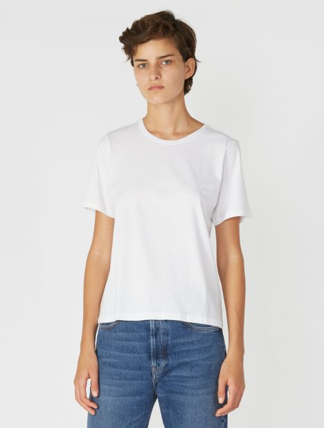 Sabine Pima Cotton Tee - White
