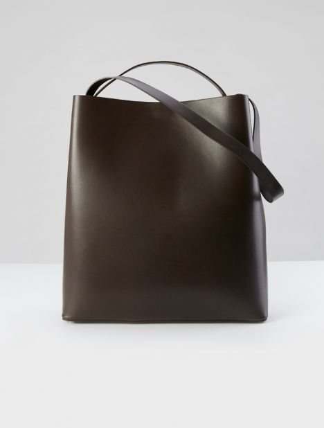 Sac Leather Tote - Espresso
