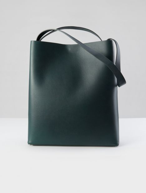 Sac Leather Tote - Jungle Green
