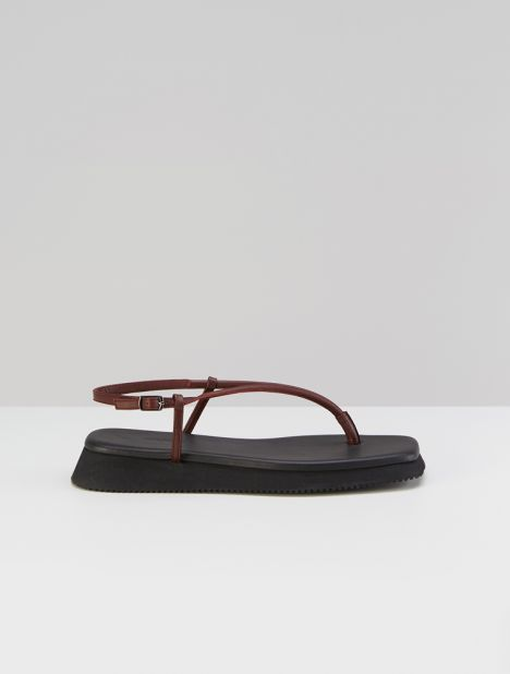 Plymouth Leather Platform Sandal