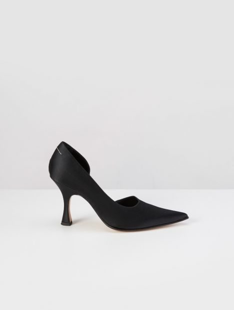 D'Orsay Satin Pump - Black
