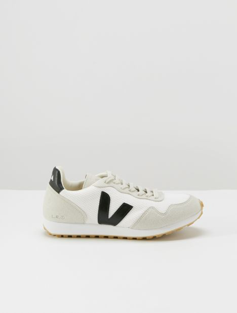 Santos Dumont Vegan Sneaker - White/Black/Natural