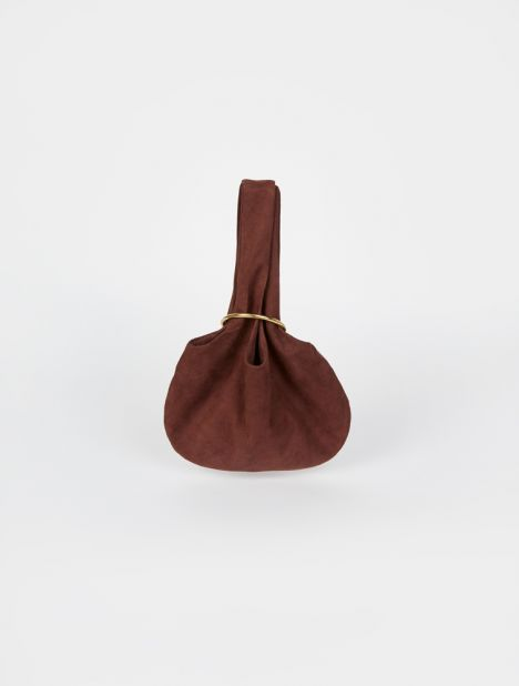 Sensillo Mini Suede Pouch - Brown