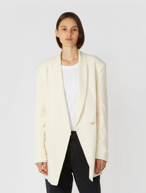 Shawl Collar Crepon Jacket