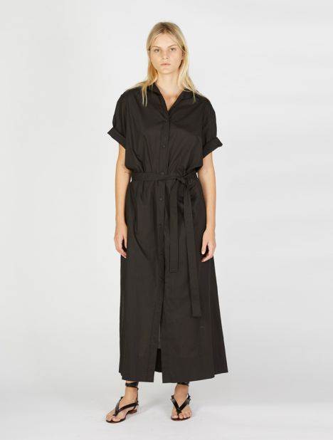 Button Front Cotton Shirt Dress