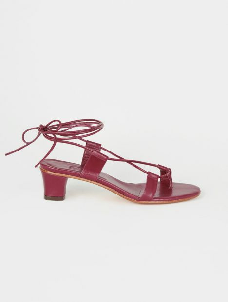 Pavone Heeled Sandal - Wine