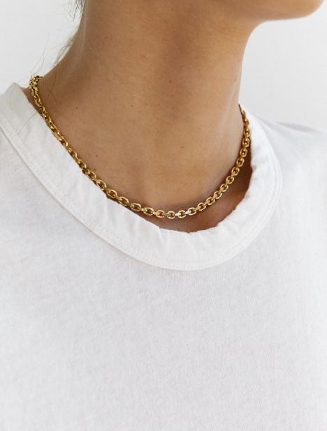 PRE-ORDER | Short Anchor Necklace - Gold