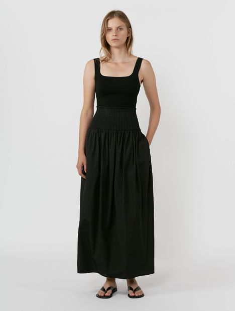Cotton Rib Skirt