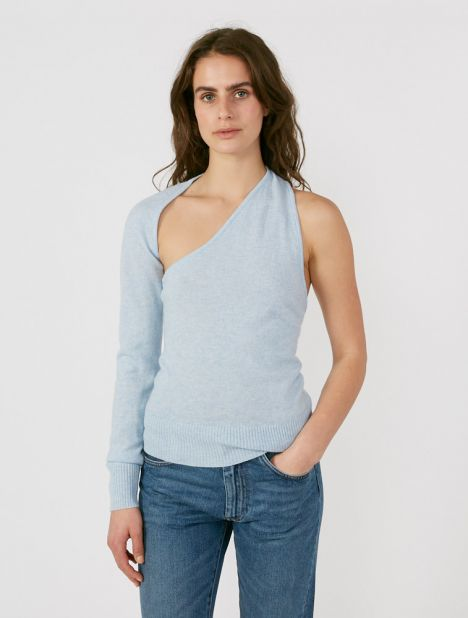 One Shoulder Sling Knit
