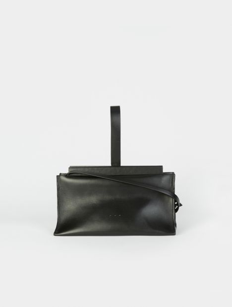 Slope Leather Clutch Bag -  Black