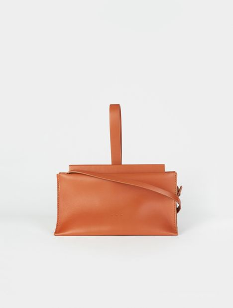Slope Leather Clutch Bag - Bombay