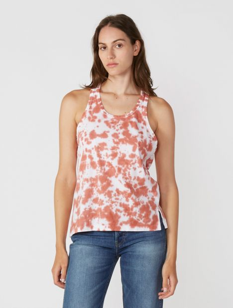 Motley Slouch Athletic Tank - White / Pink