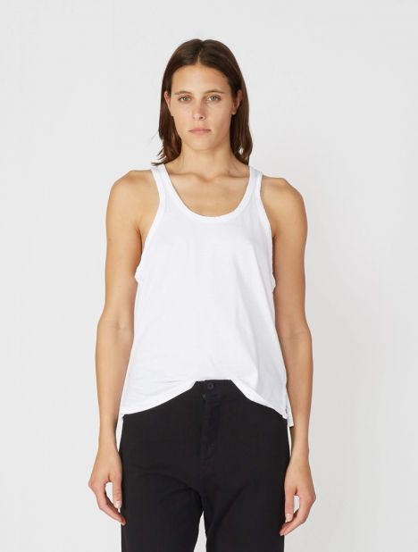 Slouch Athletic Tank - White