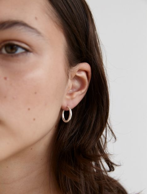 Small Thin Snake Earrings - Silver