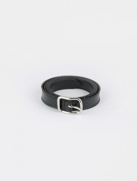 Snake Lamé Leather Belt