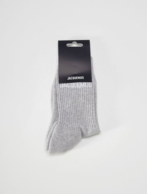 Les Chaussettes Ribbed Socks - Grey