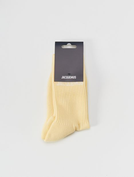 Les Chaussettes Ribbed Socks - Yellow