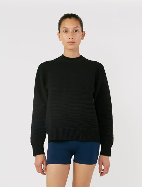Sonny Unisex Crew Neck Sweater - Black