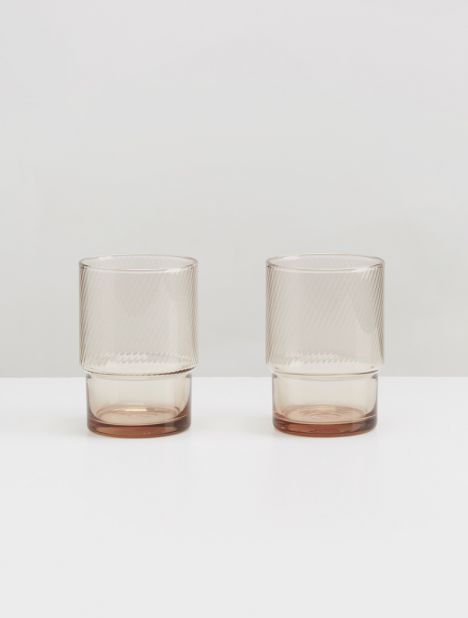 Stacking Glass Set 8oz - Smoke
