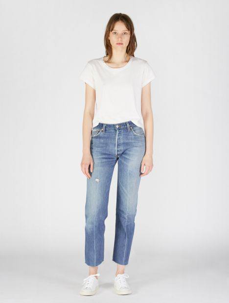X Levis High Rise Stovepipe Jean - Indigo