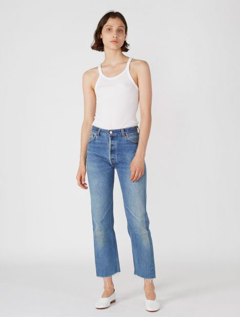 X Levis High Rise Stovepipe - Indigo