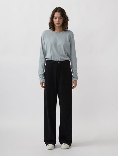 Double Jersey Straight-Leg Trackpant