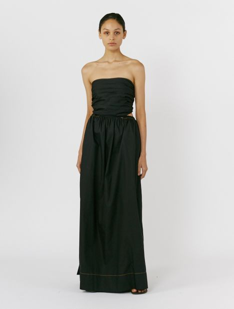 Strapless Tie-Back Dress