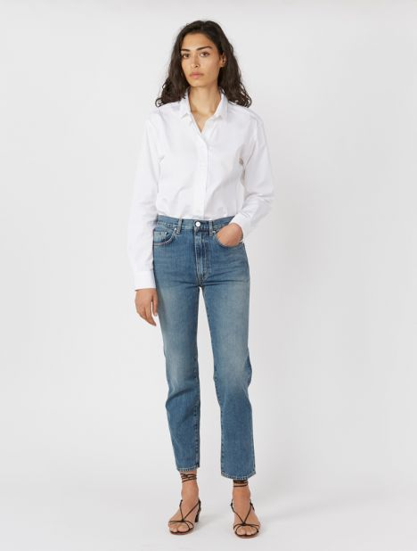 "Studio High-Rise Straight-Leg Jean 30"" - Vintage Wash"