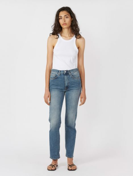 "Studio High-Rise Straight-Leg Jean 32"" - Vintage Wash"