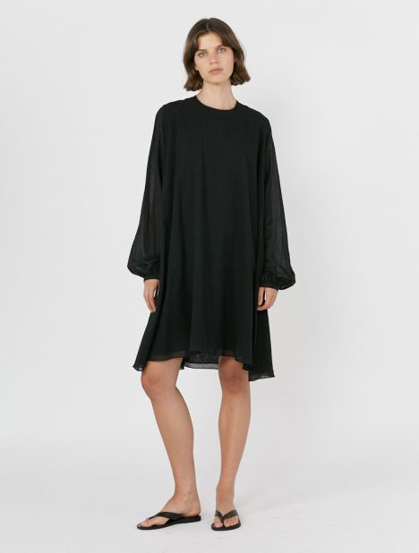 Full Sleeve Cotton Swing Dress