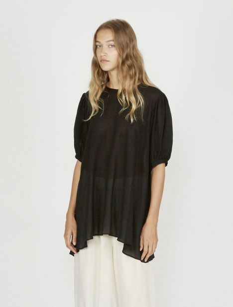 Short Sleeve Swing Top - Black