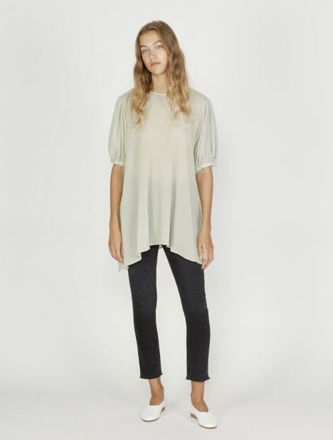 Short Sleeve Swing Top - Pale Green