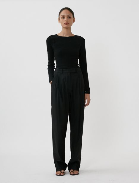 Relaxed Tailored Trouser - Black
