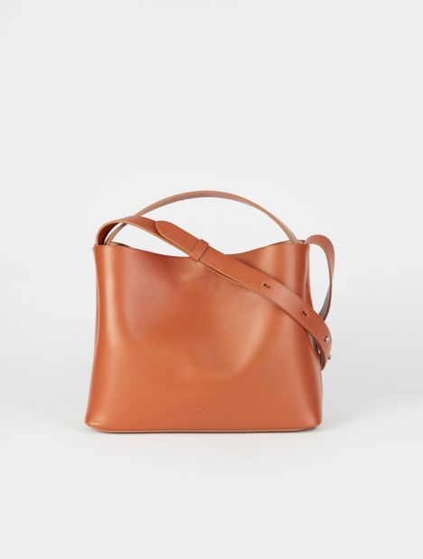 Mini Sac Leather Tote Bag - Bombay