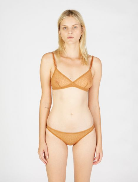 Lily Lace Brief - Caramel