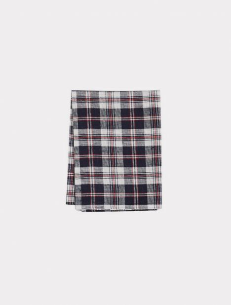 Tea Towel - Navy / Red Check
