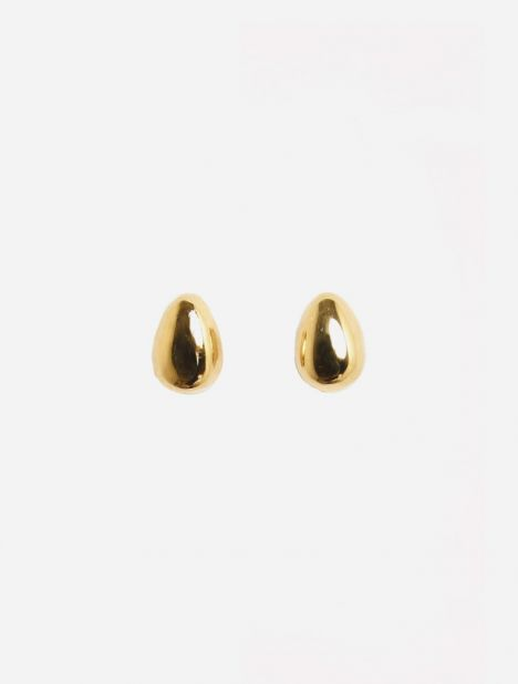 Gold Tiny Egg Studs