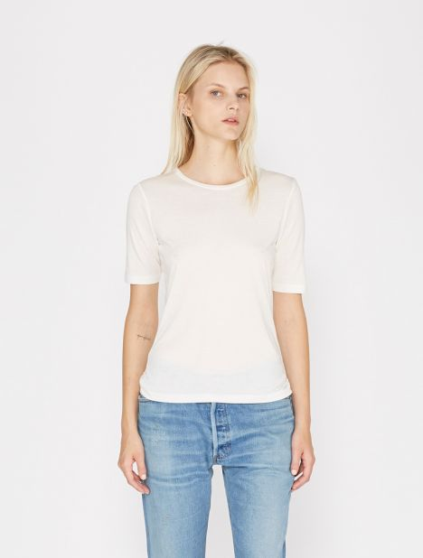 Stockholm Cashmere Tee - White