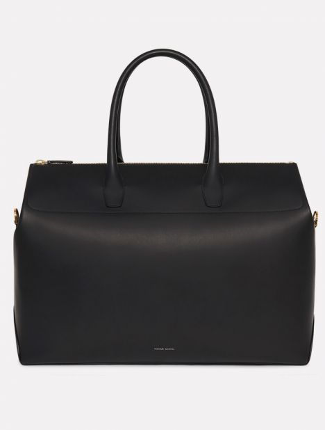 Leather Travel Bag - Black / Blue