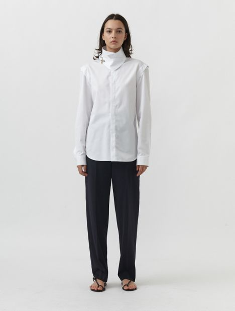Trench Sleeve Cotton Shirt