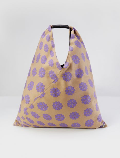 Canvas Triangle Tote - Beige