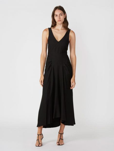 V-Neck Tuck Tank Dress