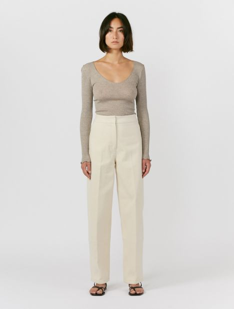 Napping Cotton-Twill Pant