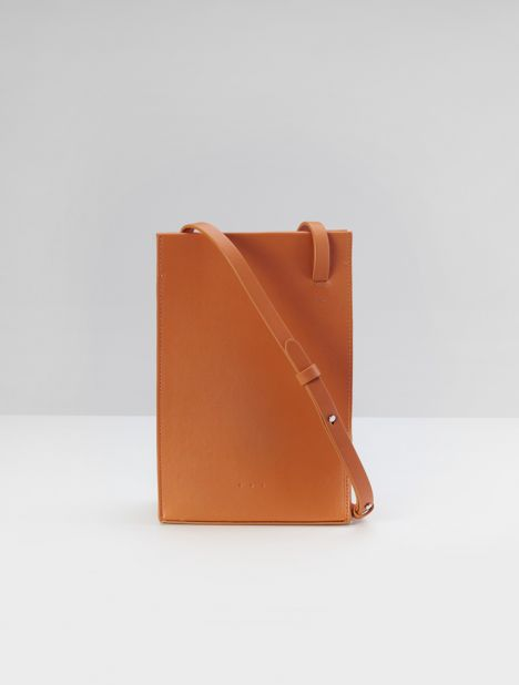 Twisted Crossbody Bag - Tangerine